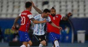 ملخص وأهداف مباراة الأرجنتين ضد تشيلي في كوبا أمريكا